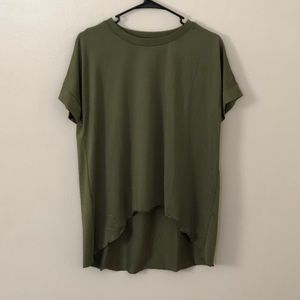 ROMWE Green High-Low Shirt